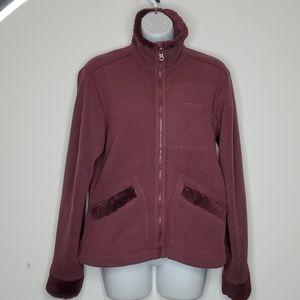 Patagonia reversible plum zip up Jacket.